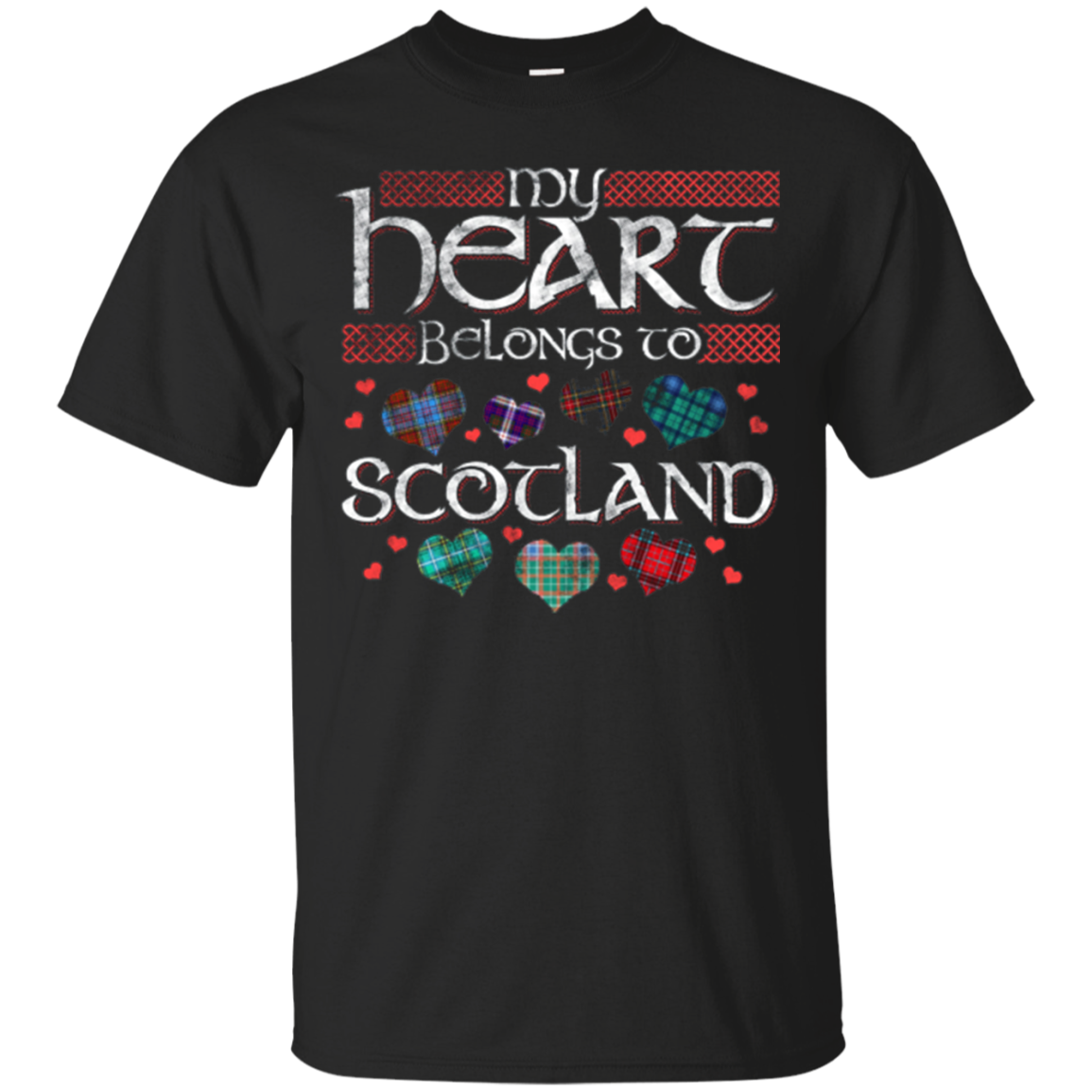 Fun T-shirt for Scottish Lovers My Heart Belongs to Scotland