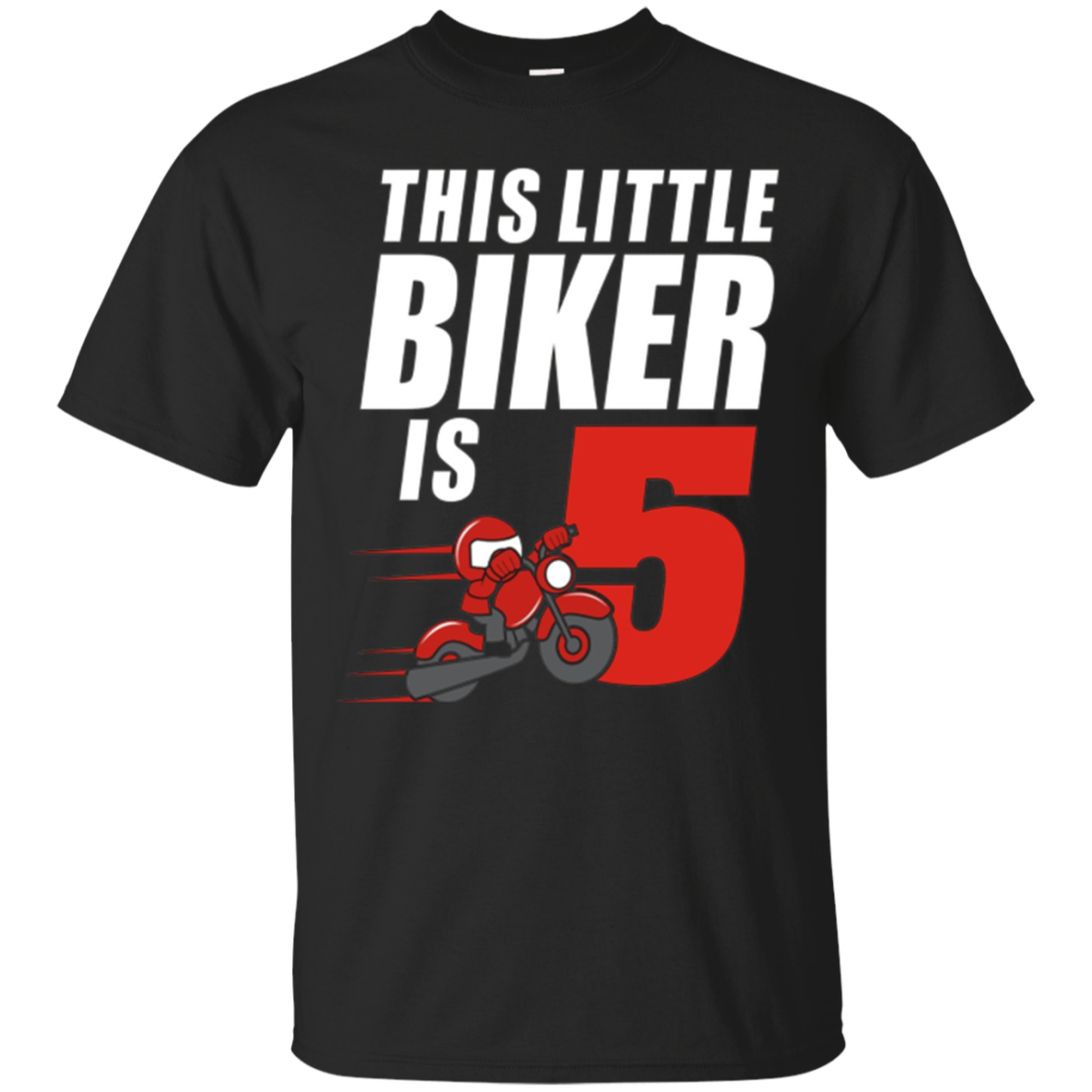 Kids 5th Birthday Boys Motorcycle T-Shirt Biker 5 Year Old