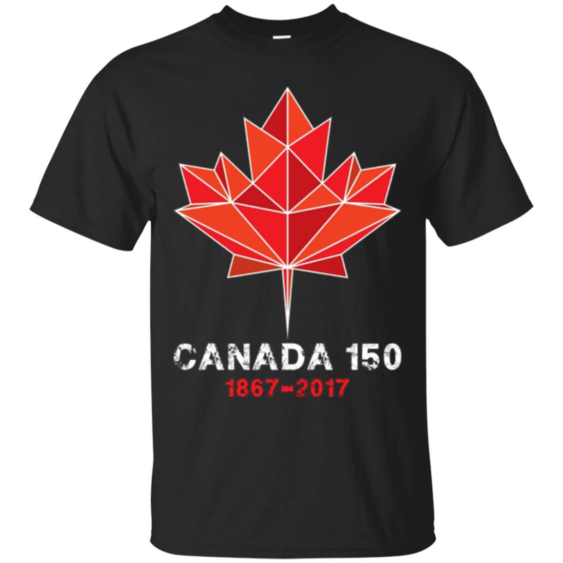 Maple Leaf Canada 150 Years T Shirt Canada 1867-2017