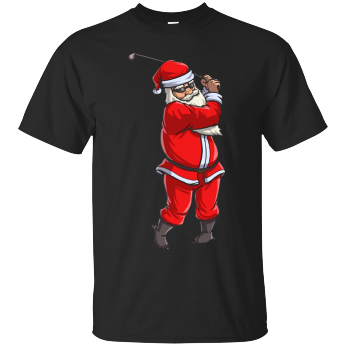 Golf Santa T Shirt Golfer Christmas Club Hat Ball Sport Gift