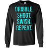 Image of Basketball t-shirt Dribble shoot swish repeat