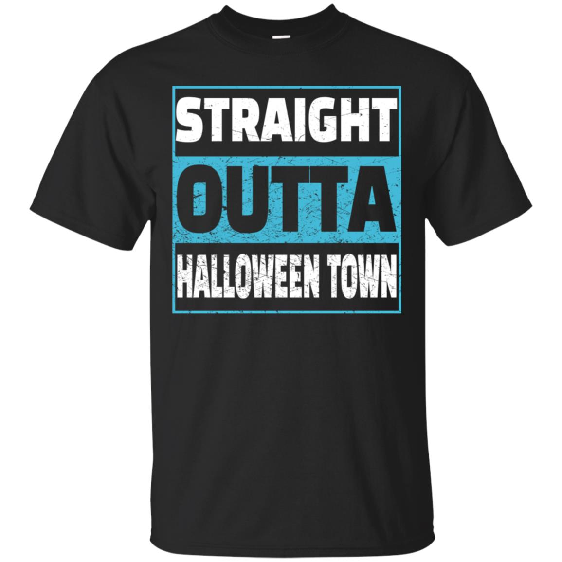 Straight Outta Halloween Town distressed T Shirt