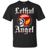 Image of Motorcycle Shirt Biker Wife Girlfriend Angel Skull Sexy