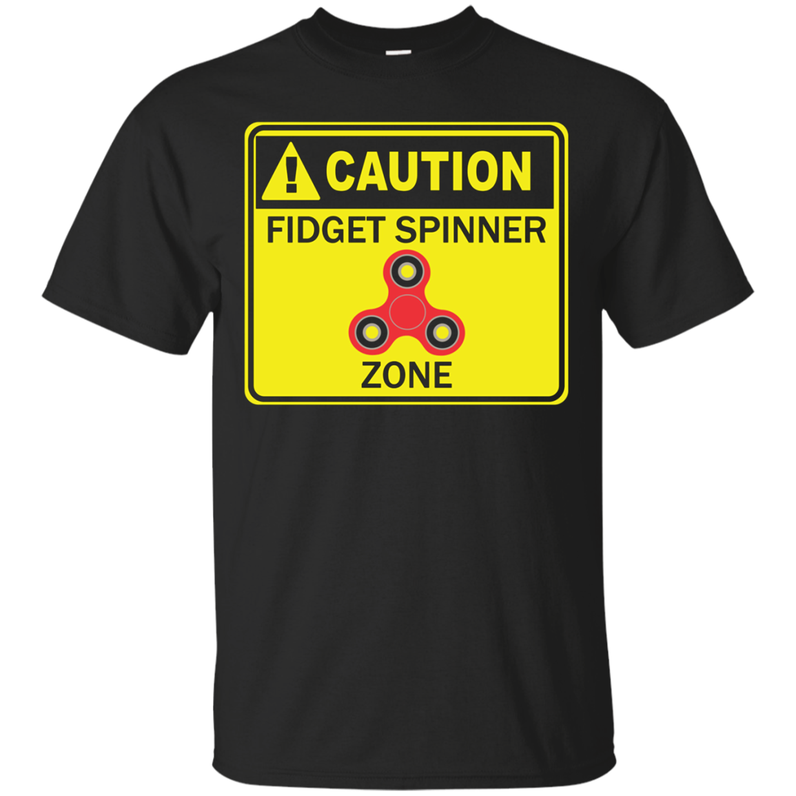 Kids Fidget Spinner Zone Shirt Sign Kids Boys Girls Youth Toy Tee