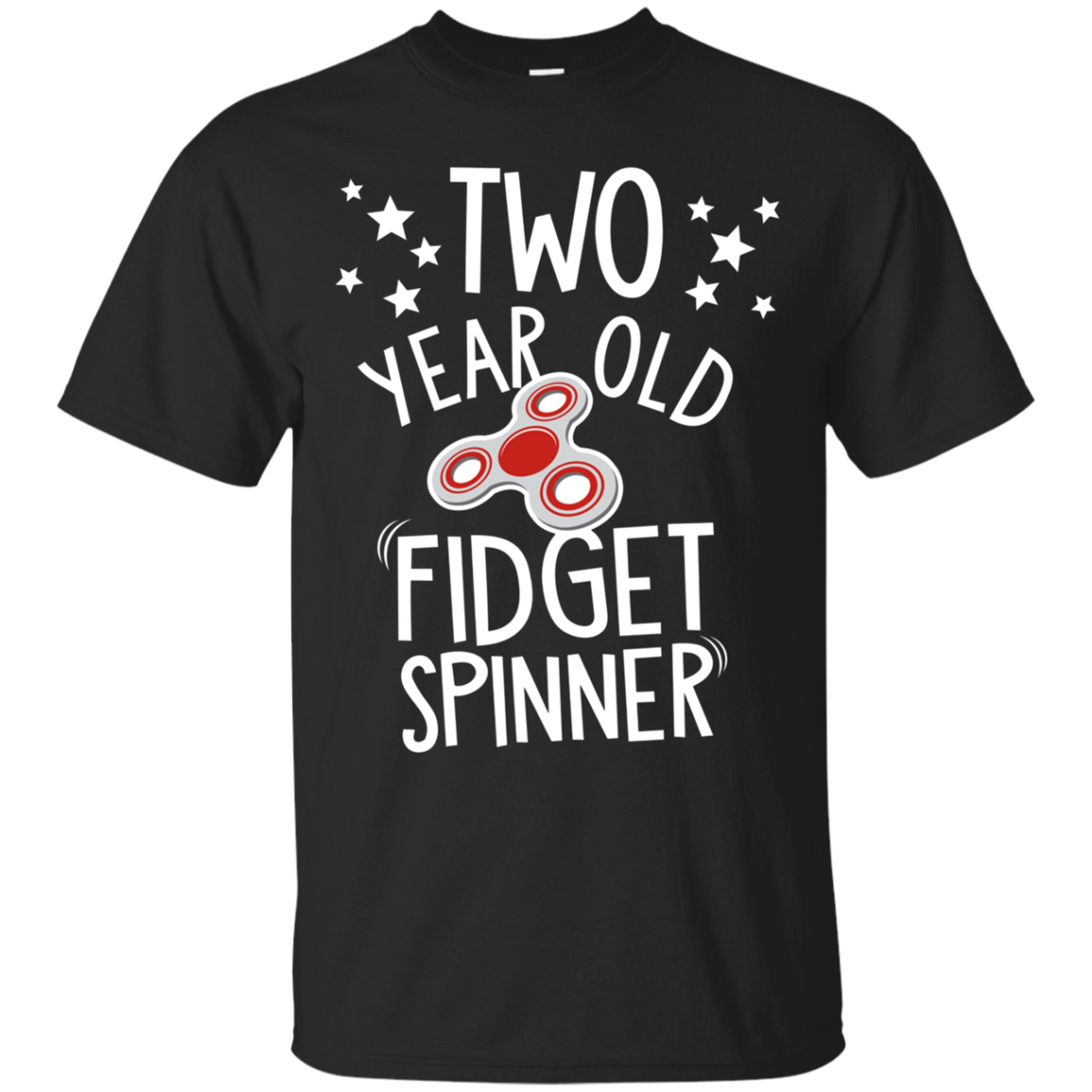 Kids 2 Year Old Fidget Spinner T-Shirt - Boys Girls Birthday Tee