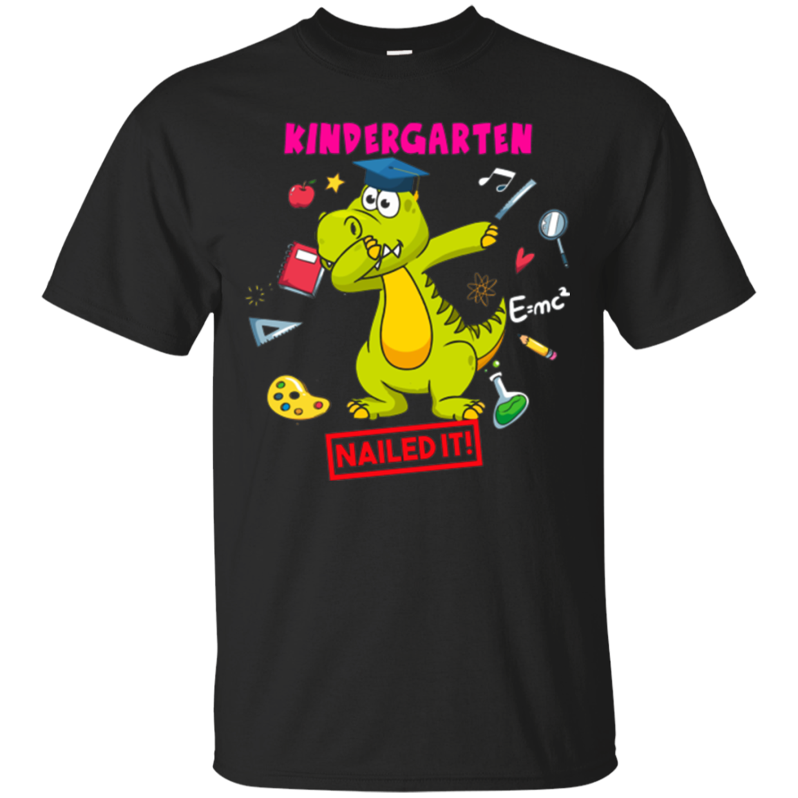 Kindergarten Nailed It Dinosaur Dabbing Graduation T-Shirt