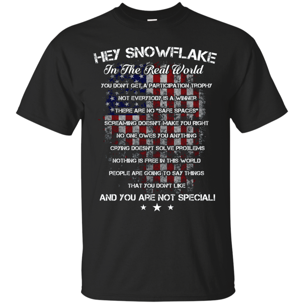 Hey Snowflake In The Real World Military Proud T-shirt