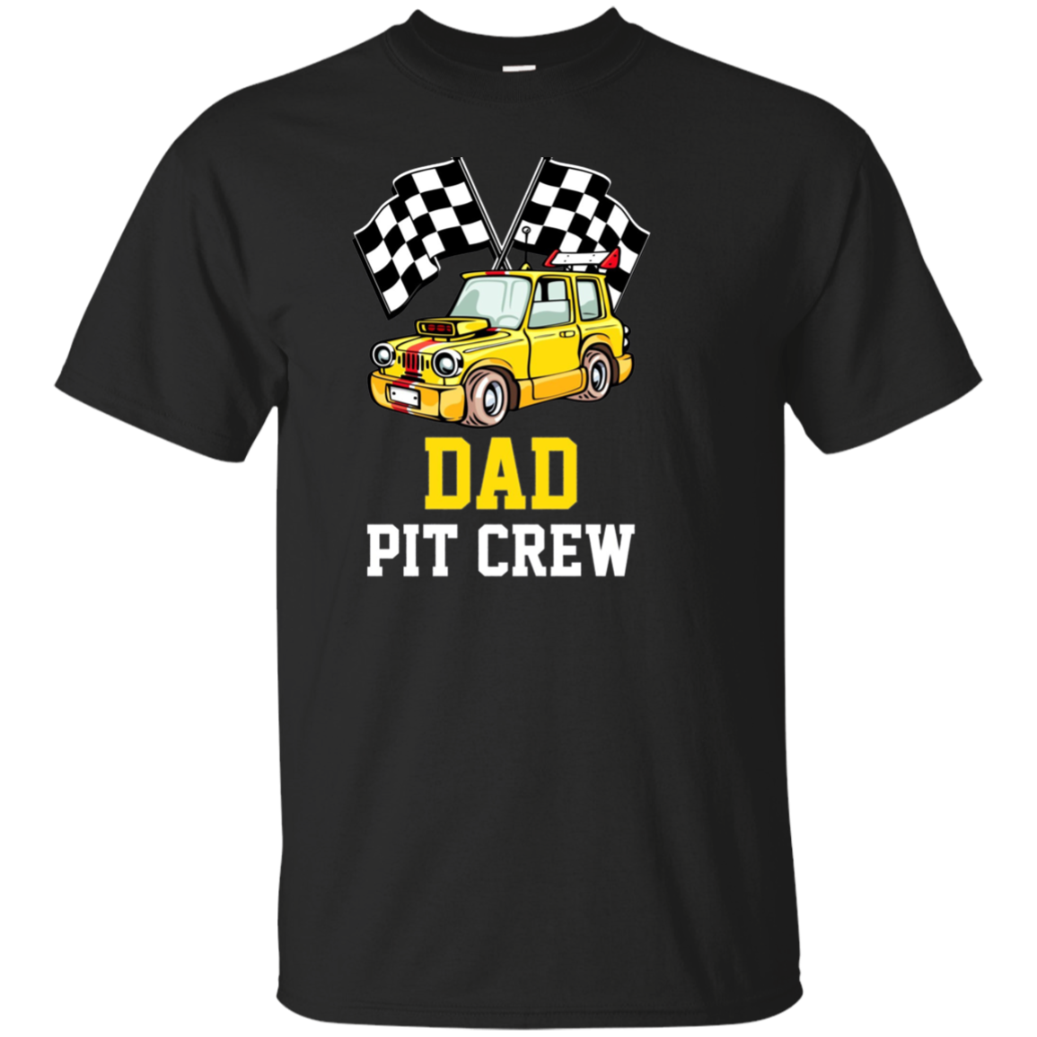 Pit Crew DAD Back Print Long Sleeve T-Shirt Race Car