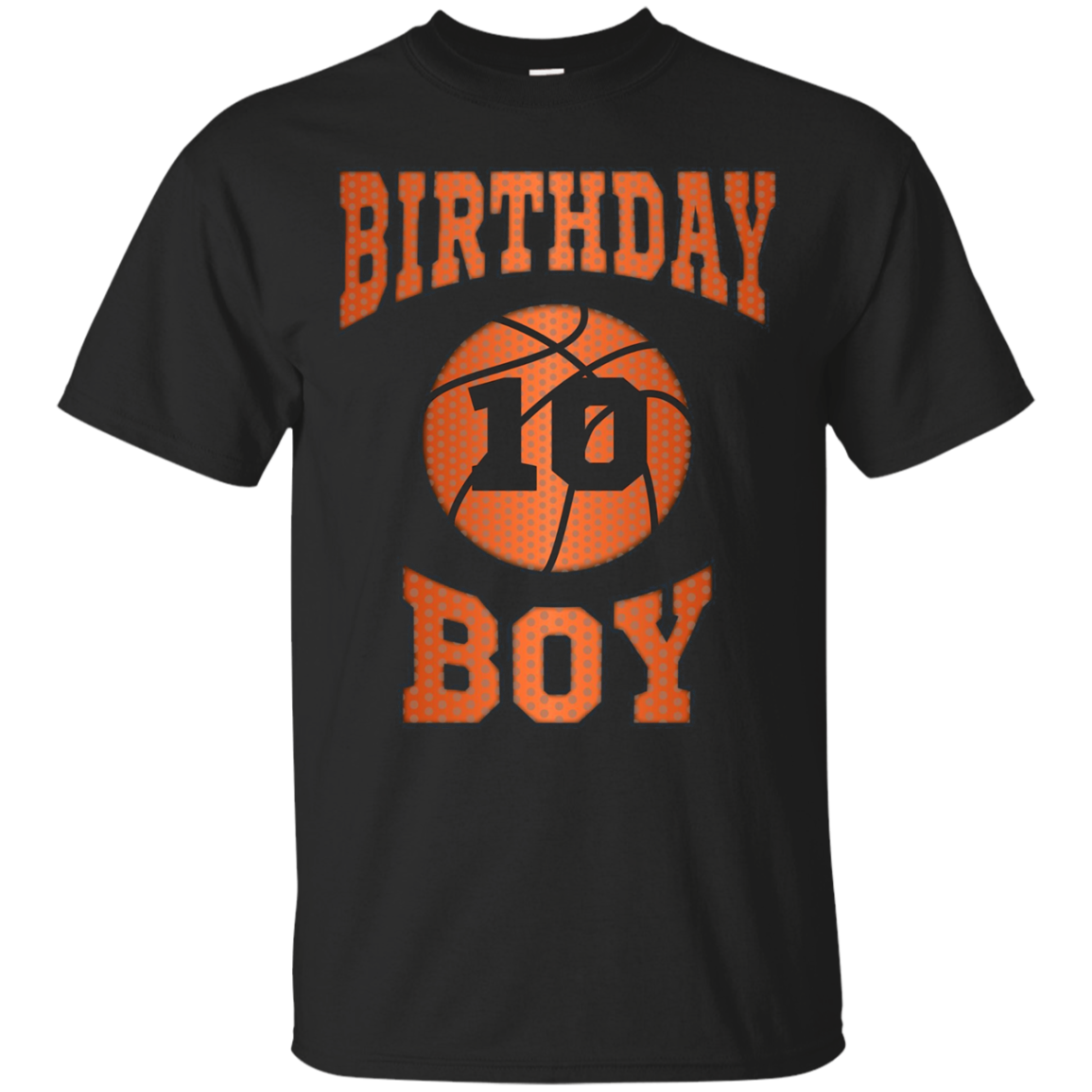 Kids 10th 10 ten years old happy birthday boy basketball t shirt