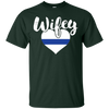Image of POLICE WIFE T-SHIRT, Love My LEO Officer Blue Line Gift