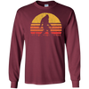 Image of Retro Bigfoot Silhouette Sun T-Shirt - Believe!