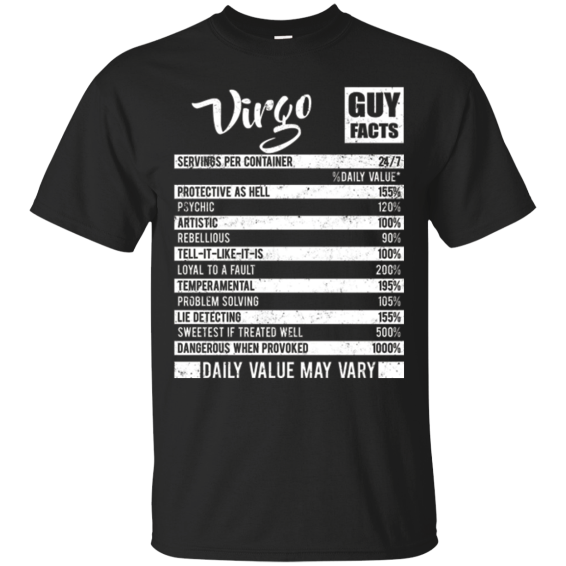 Virgo Guy Facts T-shirt Born In September Birthday Gifts