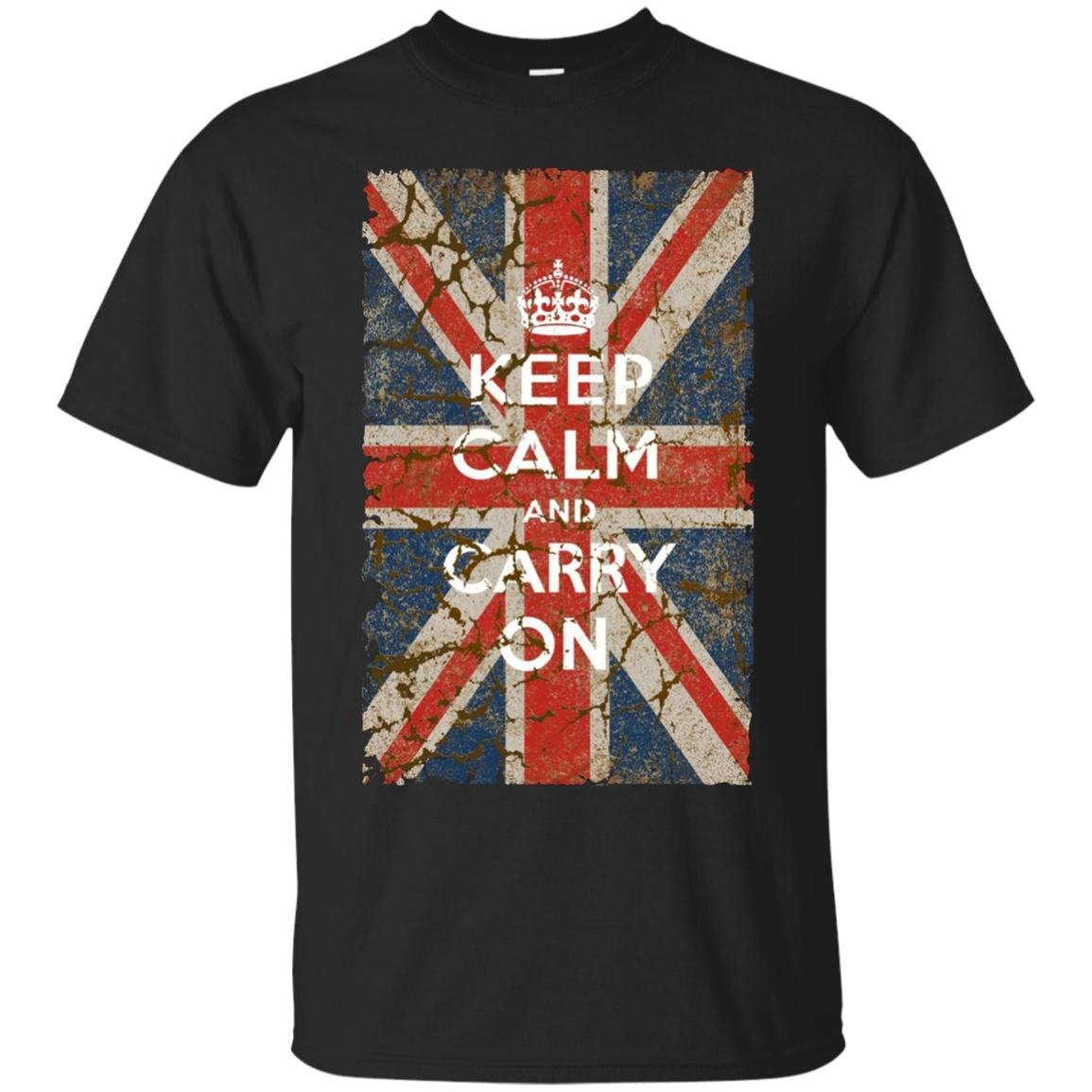 Keep Calm and Carry On with UK Flag