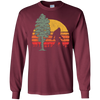 Image of Retro Bigfoot Silhouette & Sequoia T-Shirt - Believe!