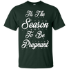 Image of Tis the season to be Pregnant Shirt Christmas Pregnancy Baby