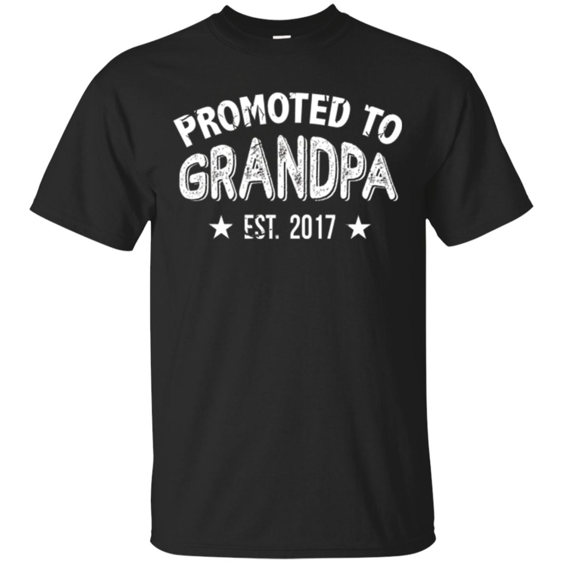 Mens Promoted To Grandpa 2017 Tshirt Fathers Day Gifts For Grampa