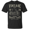 Image of 47th Birthday 1970 Vintage Retro Motorcycle Chopper Tshirt