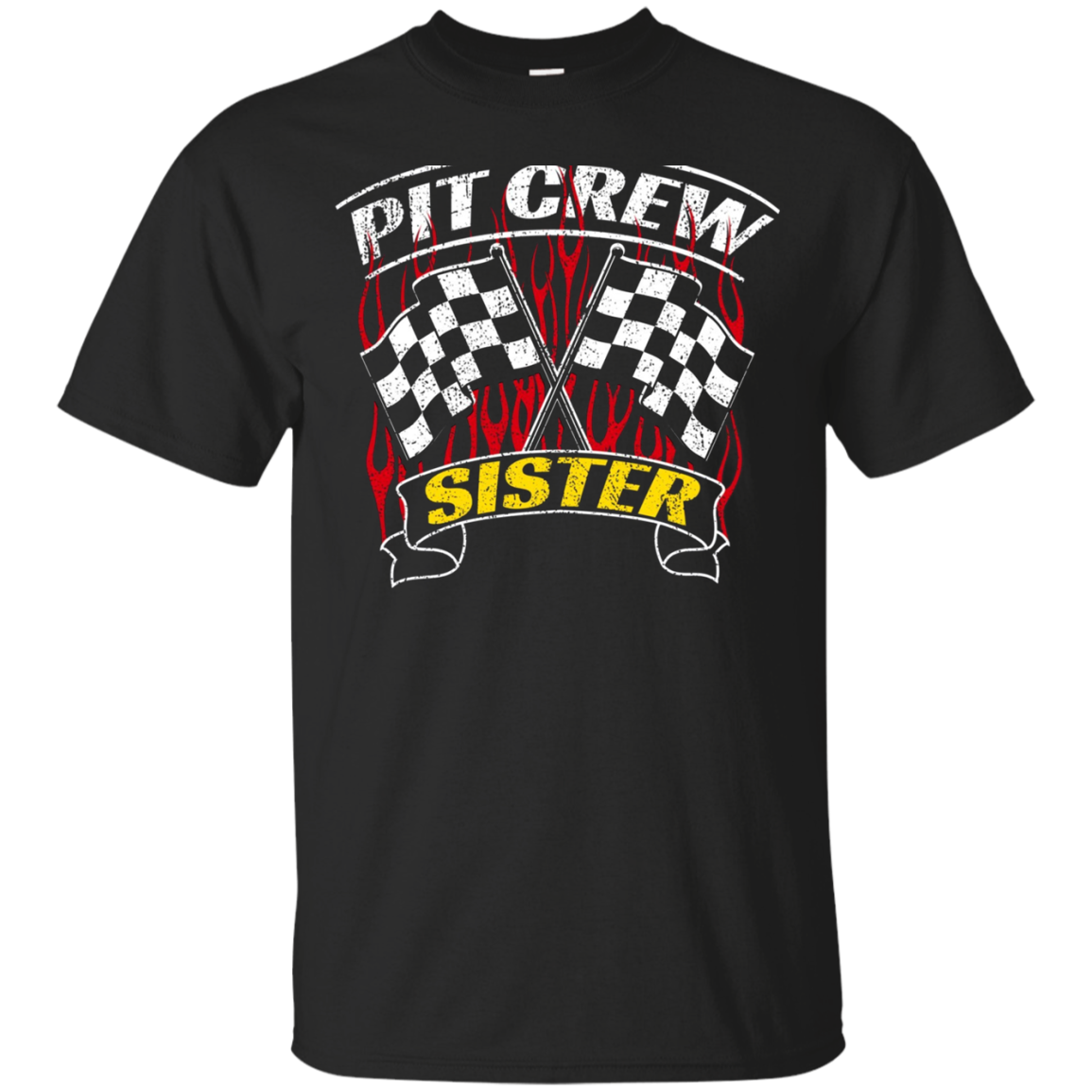Pit Crew Sister Back Print Long Sleeve Shirt Formula Racing
