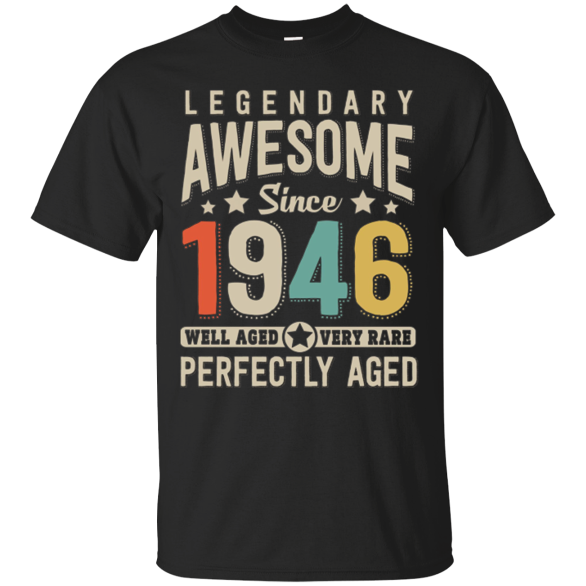 Awesome since 1946 72nd Birthday T Shirt 72 Years Old