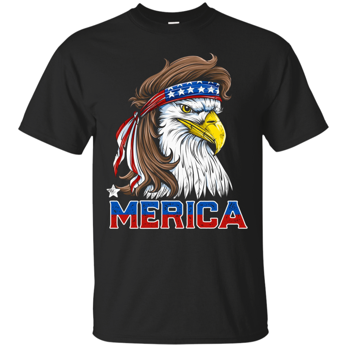 Eagle Mullet T Shirt Merica USA Pride Flag 4th of July Tees