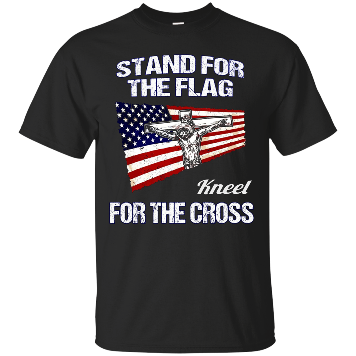 America Stand for the Flag USA Patriotic Christian Tee Shirt