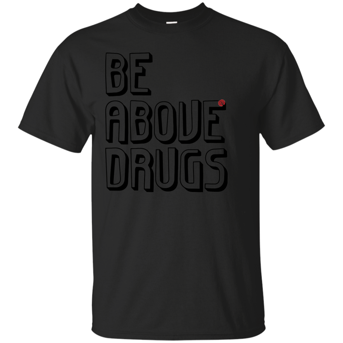 BAD Shadow Tee, Drug Free Apparel, Anti-Drug T-Shirt
