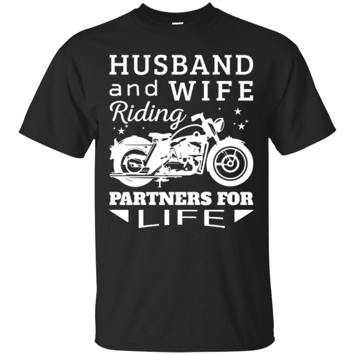 Husband and Wife Riding Partners For Life Motorcycle Shirt