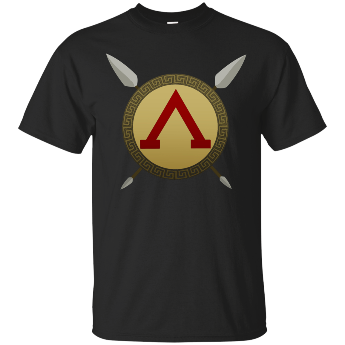 Spartan Warrior Shield and Spear T-shirt