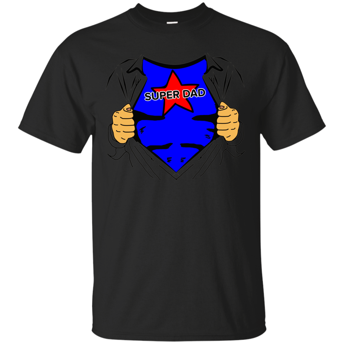 My Dad Is Super Men Funny Cute T-shirt Gift For Father's Day
