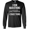 Image of Just Kidding I Chase Twins-Shirt for Mom and Dad of twins