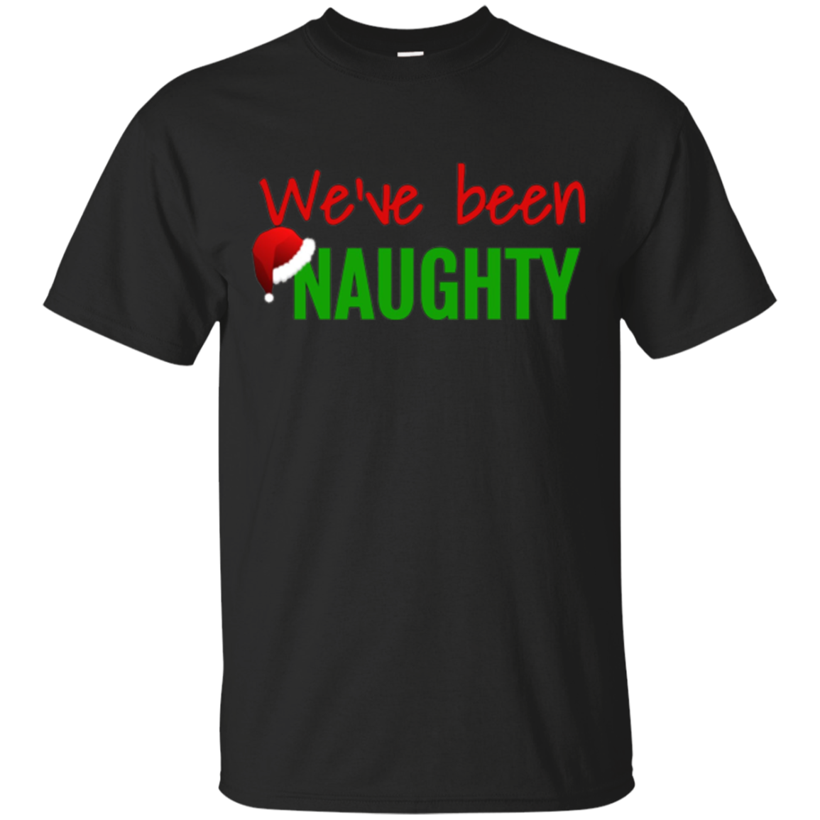 We've Been Naughty Christmas Pregnancy Announcement T-shirt