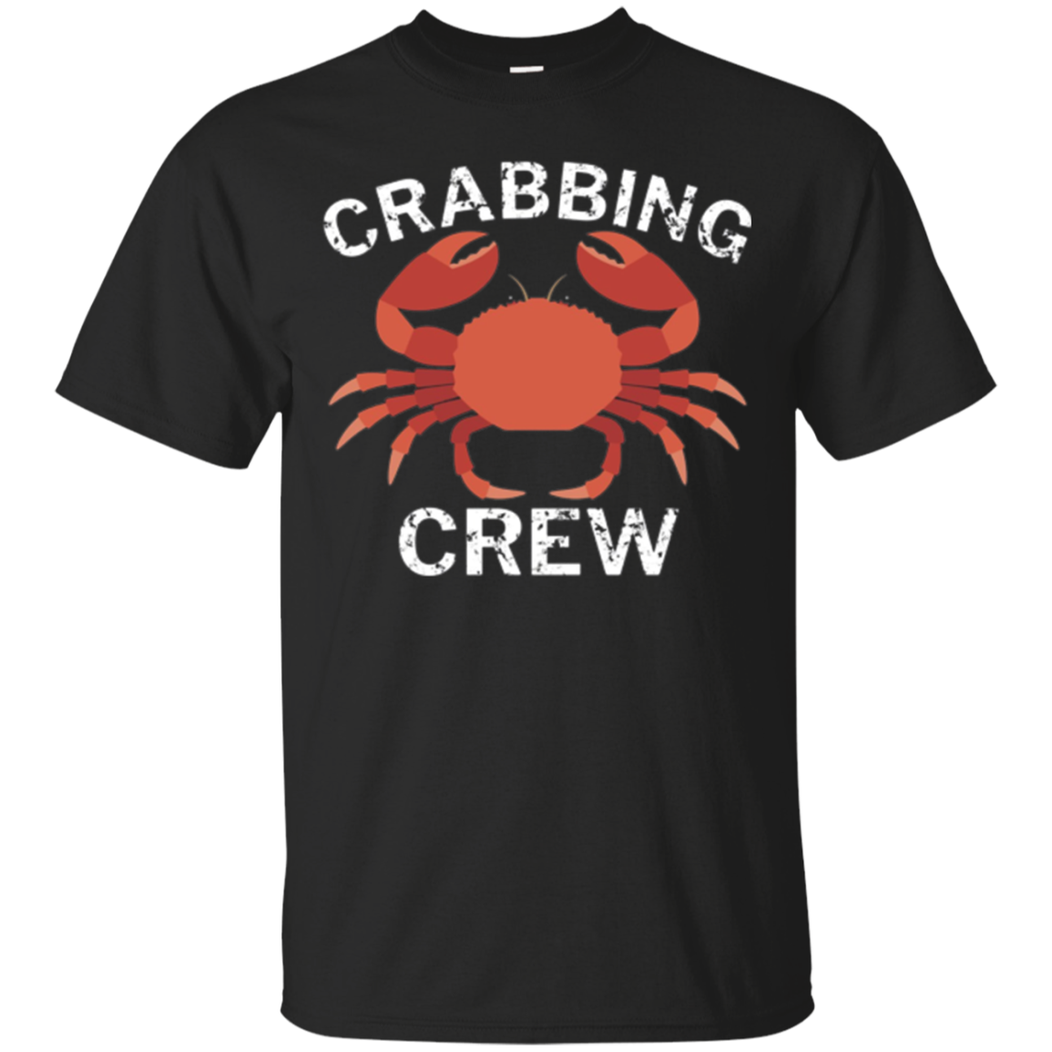 Crabbing Crew Funny Fishing Long Sleeve T-Shirt