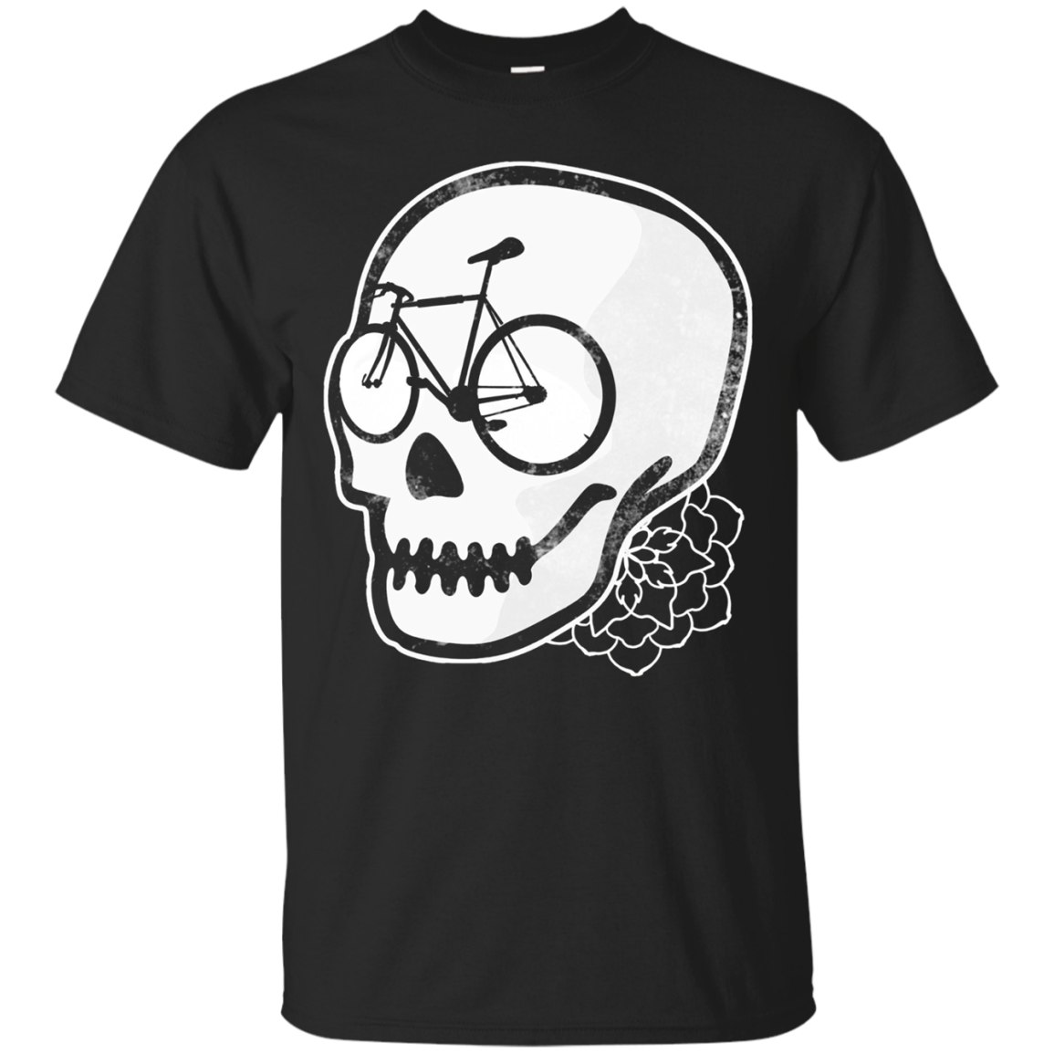 Bicycle Skull T-shirt - Commuters, Cyclists & Bike Riders