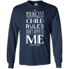 Image of Youngest Child The Rules Don't Apply To Me Siblings T-Shirt