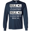 Image of Funny Accountant CPA Long Sleeve Shirt Gift Accounting Rules