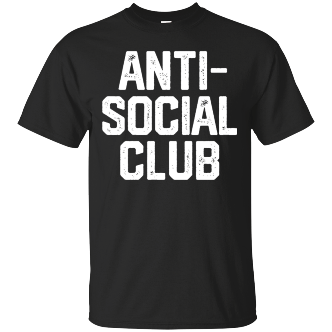 Funny Shirt Antisocial Club Novelty Vintage T-Shirt Gift