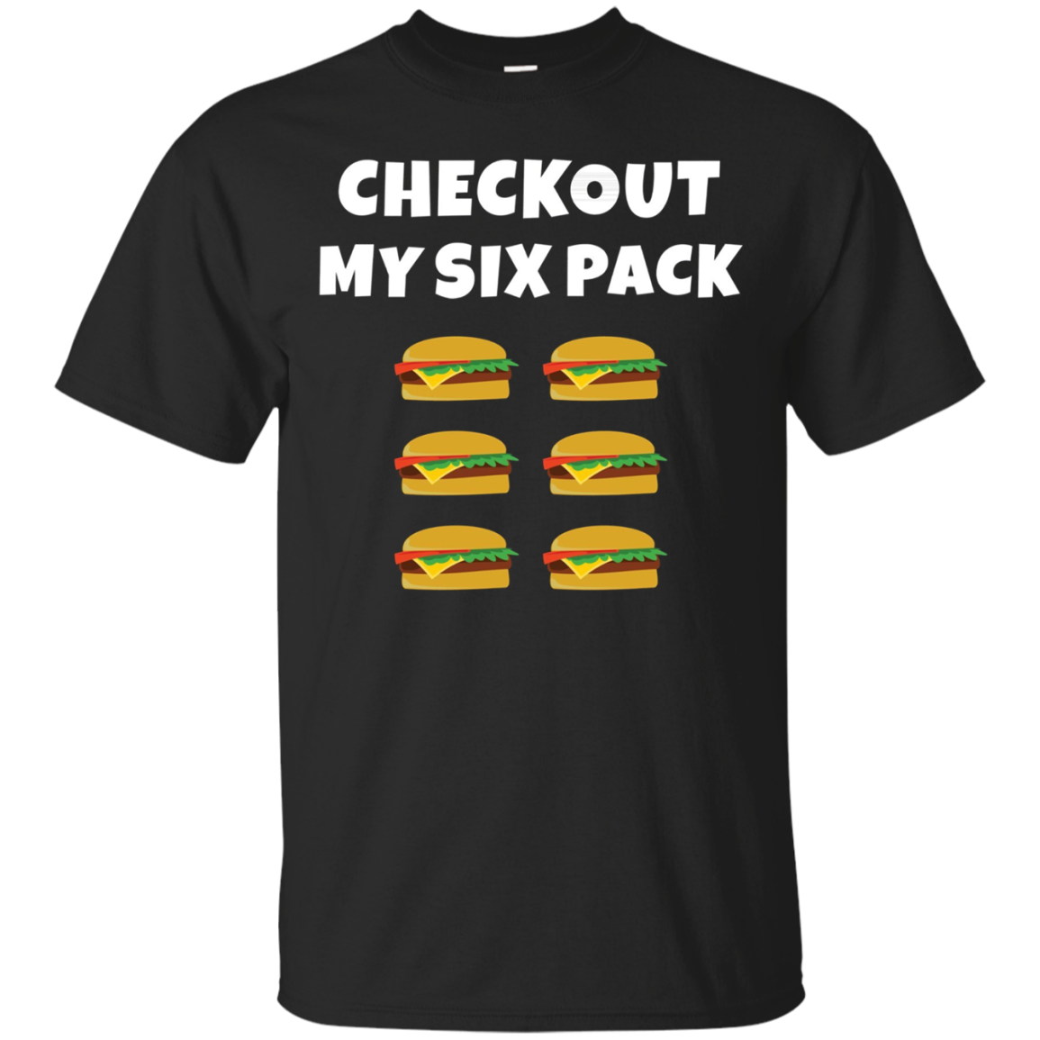 Check Out My Six Pack Burgers Funny Fitness Motivation Shirt