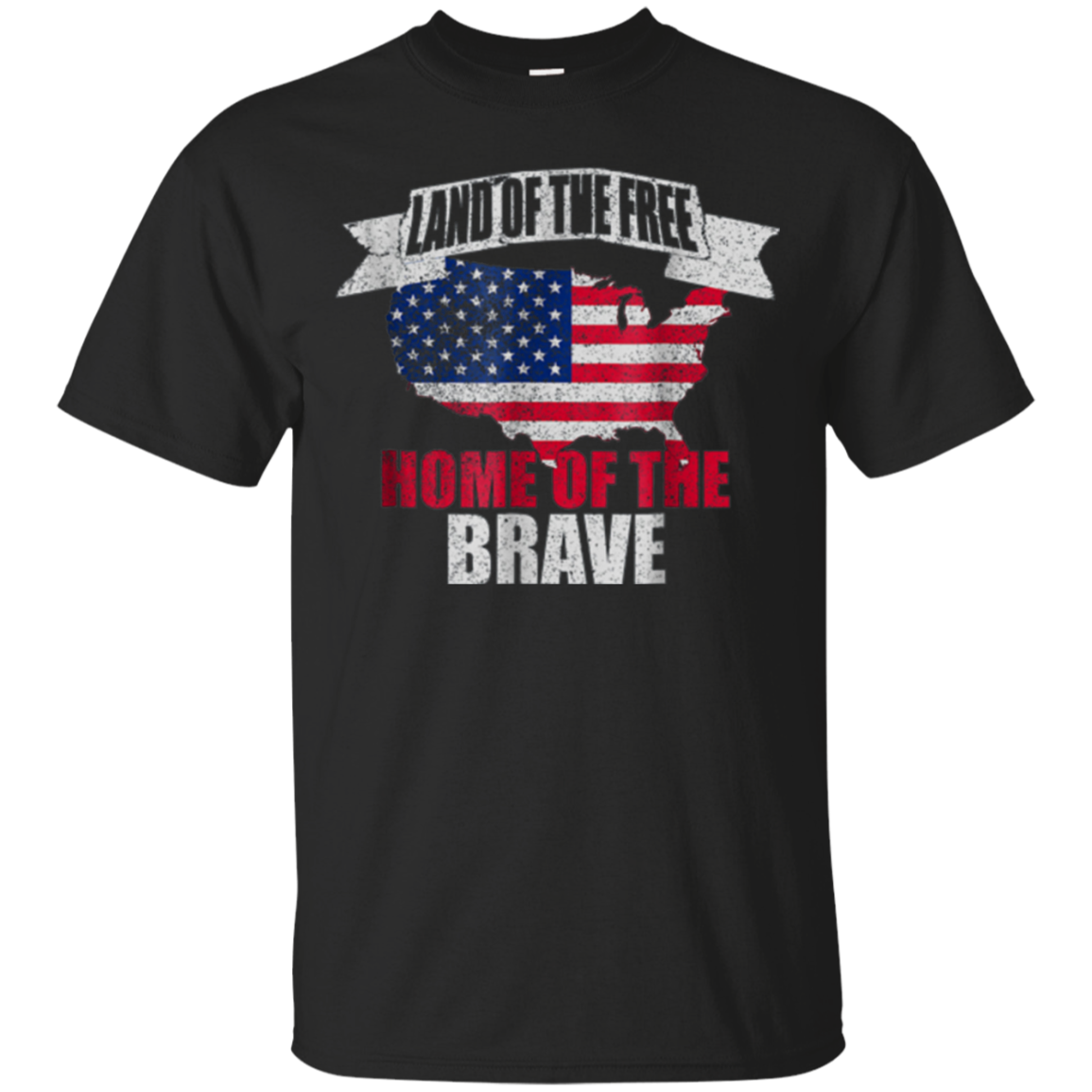 Land of the Free Home of the Brave 4th of July USA Shirt