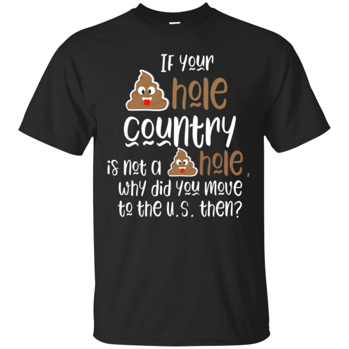 S---hole Country Funny Donald Trump Quotes T Shirt for him a