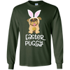 Image of Easter Pug Shirt Bunny Ears Costume Cute Gift Women, Kids