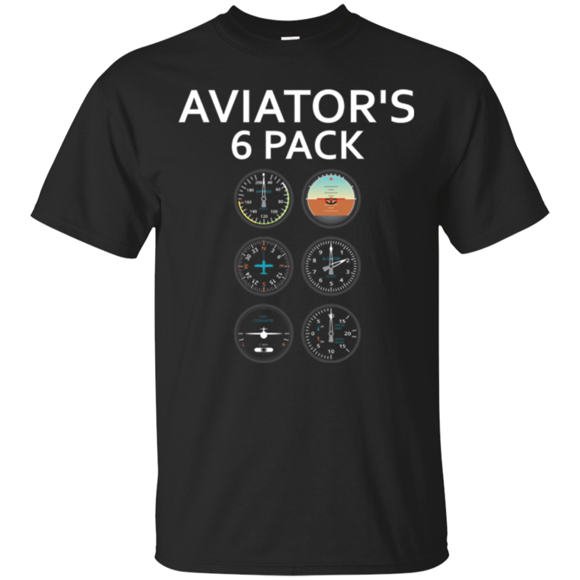 Aviator 6 Pack T-Shirt: Pilot Novelty Humor