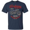 Image of Vintage Since 1959 Birthday Gift Motorcycle Bike T-Shirt