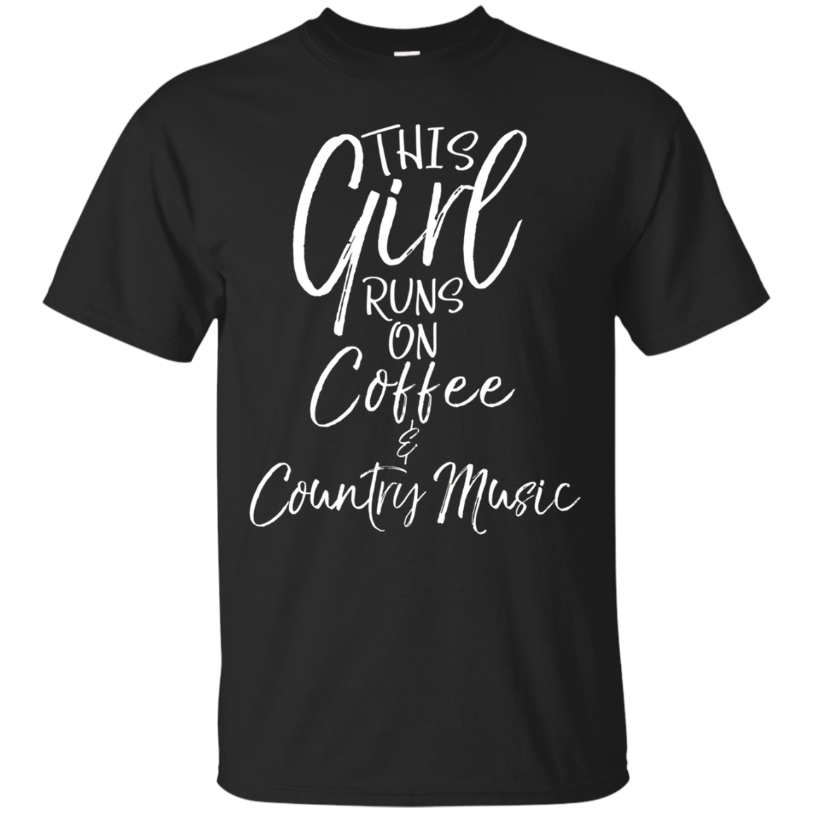 This Girl runs on Coffee & Country Music Shirt Cute Womens