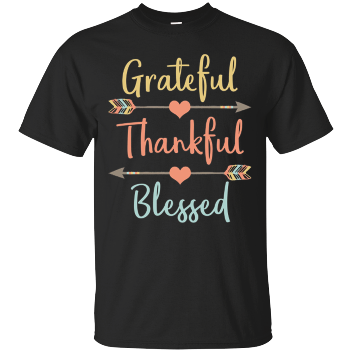 Grateful Thankful Blessed Shirt Thanksgiving Shirt