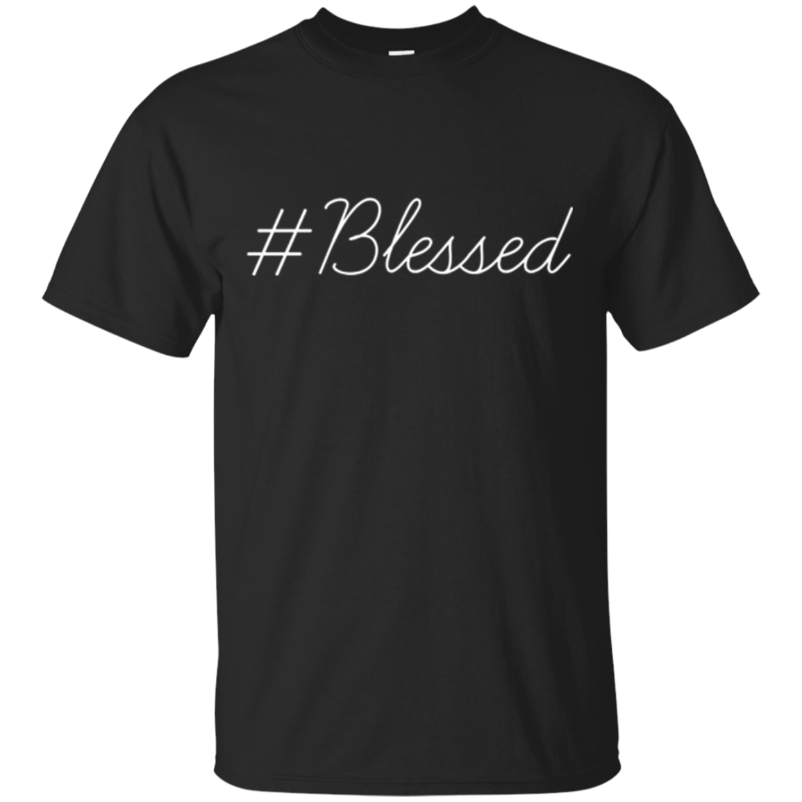 Original Hashtag Blessed Inspirational Faiith Gift Shirt