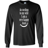 Image of According to My Wife I am a Very Happy Man Witty Shirt
