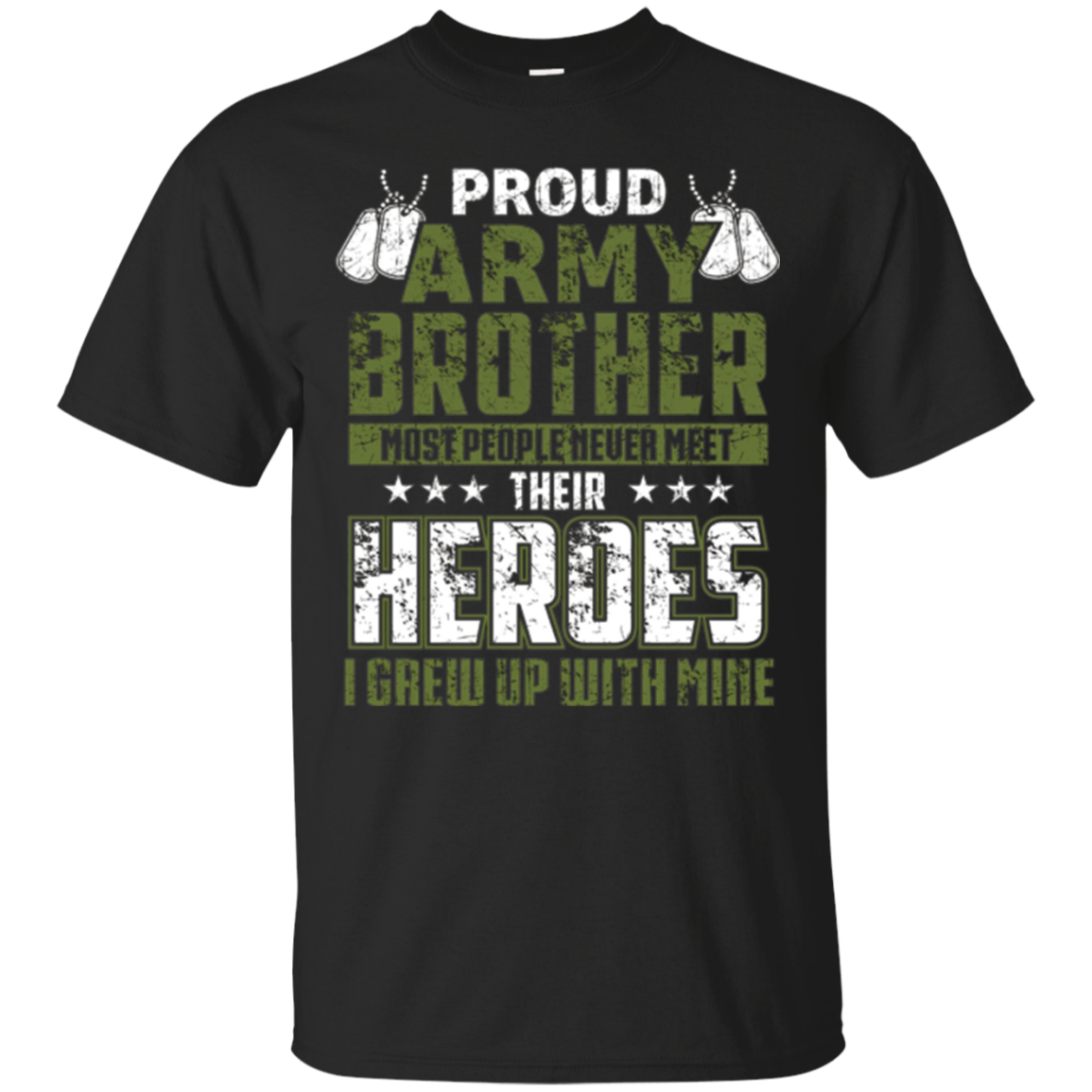 Proud Army Brother Shirt Patriotic Military Veteran T-Shirt