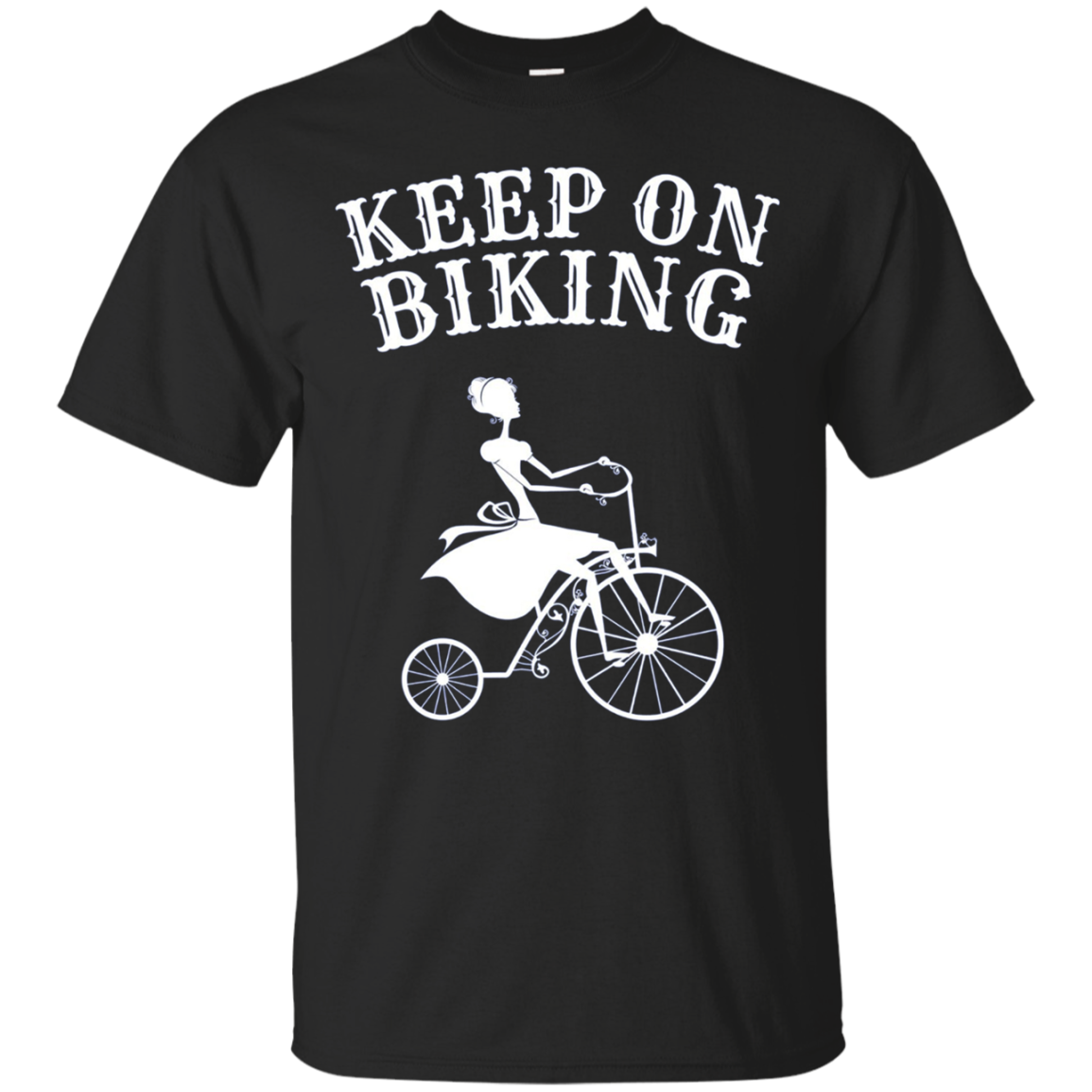 Keep On Biking T-Shirt | Long Sleeve Lady Cycling Tee
