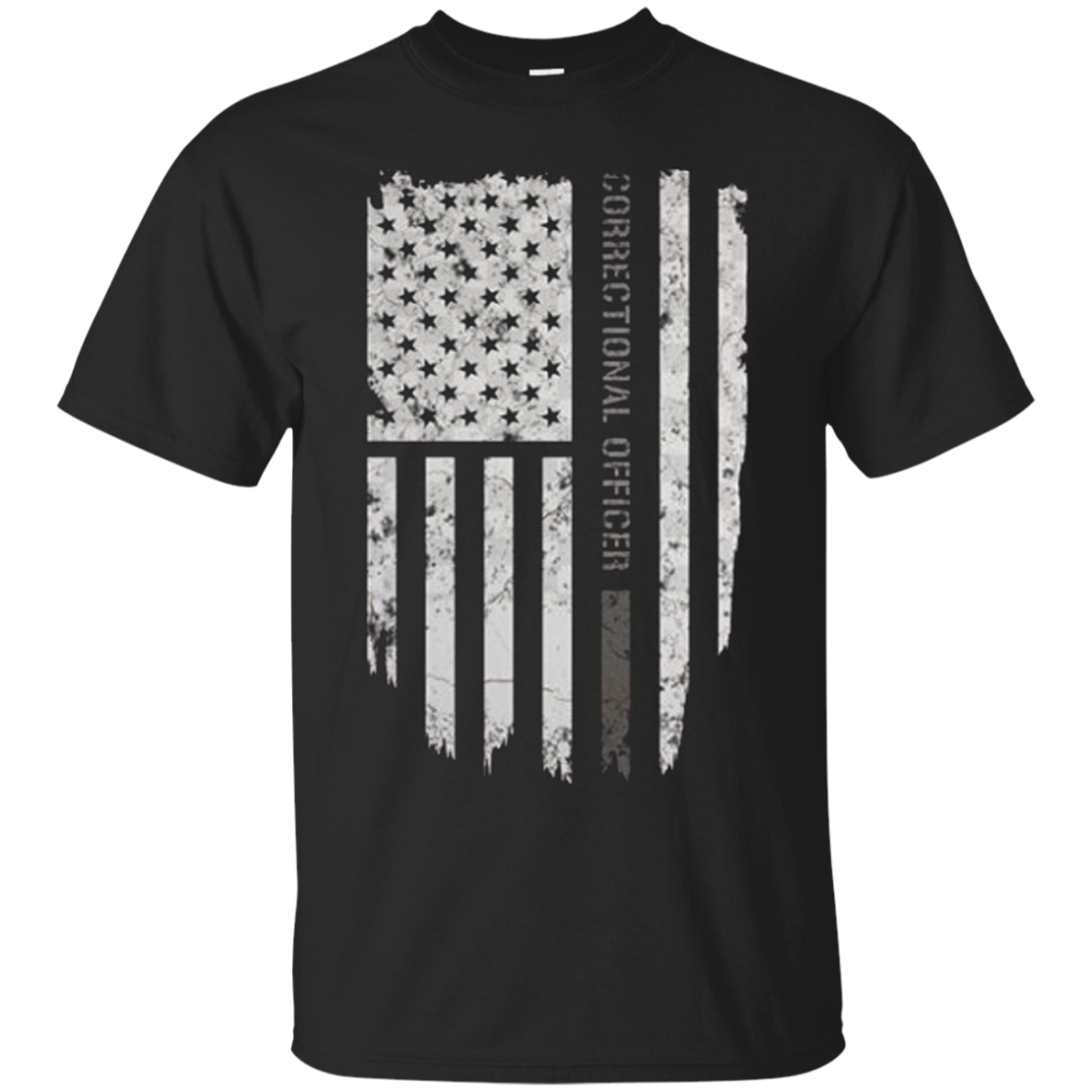 Thin Silver Line Correctional Officer T-Shirt
