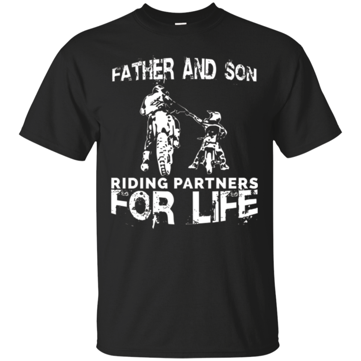 Father And Son Riding Partners For Life T-shirt Dads Sons